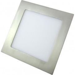 Downlight LED 24w 4000k Cuadrado 1900lm Niquel 22x22