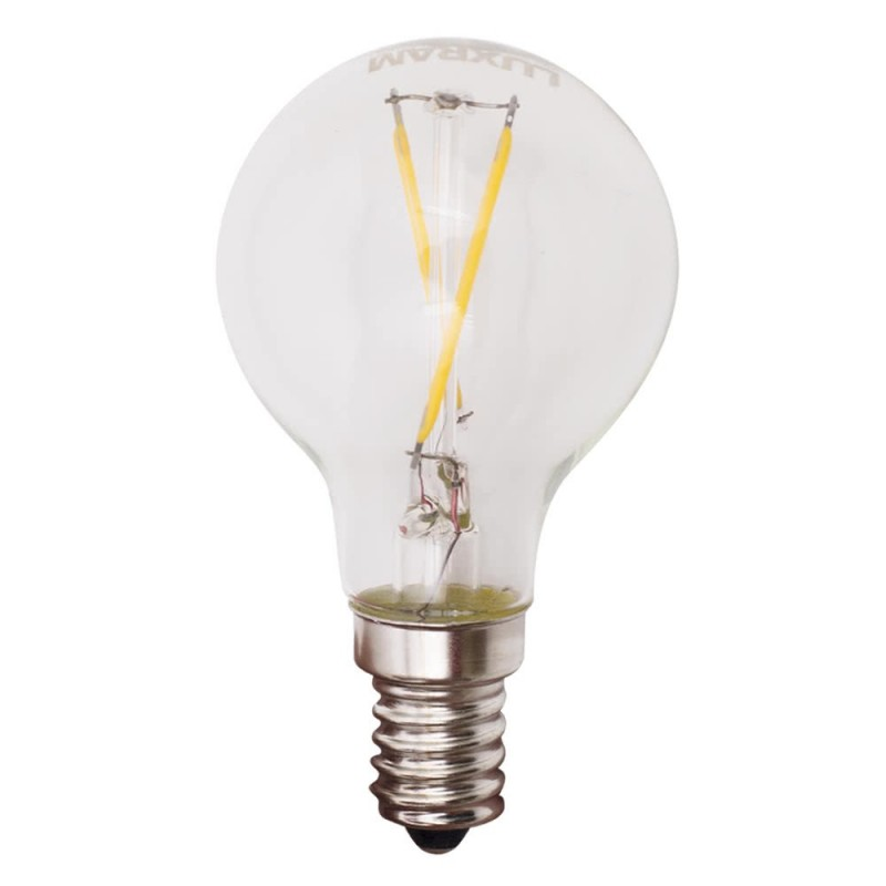 Bombilla LED filamento 4w 2700k Esferica E14 400lm 45x65